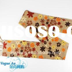 2011 new fashion design cotton flower scarf Scarf /long printed scarf/ brand Shawl Pashmina