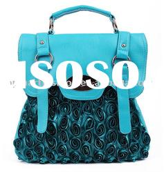 2011 newest fashion lady handbag with the Lace flower