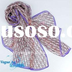 2011 summer cool spinning silk scarf /long printed shawl scarf / new arrival pashmina scarf