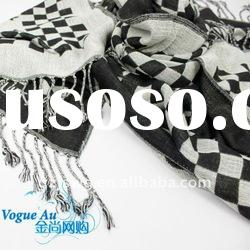 2011 unique fashion design cotton check scarf Scarf /long printed scarf/ brand Shawl Pashmina