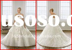 2012 A Line Sweetheart Flower Organza Luxury Wedding dress