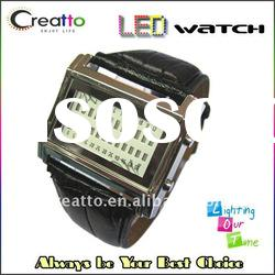 2012 New Man Luxury LED Watch Red Digital LED Watch Japanese-inspired