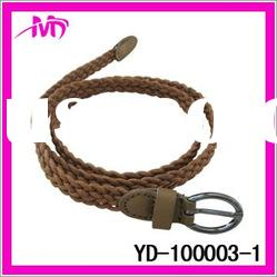 2012 hot sale fashion braided leather belt for women