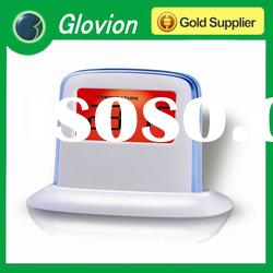 2012 new design push panel color changing lcd clock push panel clock vibrating alarm clock