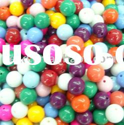 2308as mixed color round shape acrylic beads
