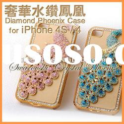 3d crystal phone case for iPhone4,4S,handmade luxury case for iphone4,4S