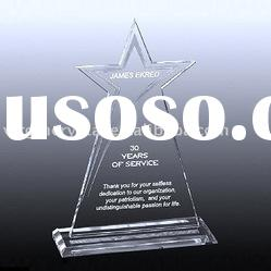 3d laser crystal star award