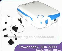 5000mah high capacity power bank external usb battery charger