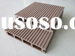60% wood fiber+30%HDPE+10%additives waterproof outdoor composite sidewalk decking covering--145*25mm