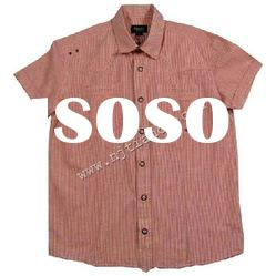 80%cotton,20%linen men's casual shirts