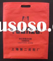 80gsm red non woven punch handle bag