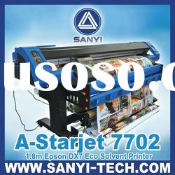 A-Starjet 7702 Eco Solvent Printer / Outdoor Advertising Printer / With 2 Epson DX7 Printheads