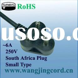 Africa SABS Standard power supply cord/cable and 3-pin plug(small)