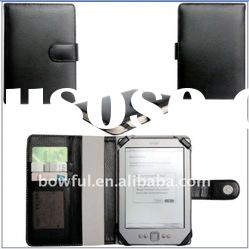 BF-EB023 E-book Leather Case For Kindle 4,With 3 Card Holder And Magnet .