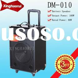 Best Active Subwoofer Portable and Rechargeable Speaker Box with Wheels DM-010