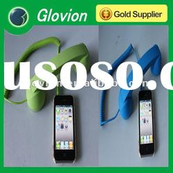 Best seller pop phone handset holder pop color retro mobile phone handset smart phone handset