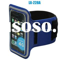 Blue water resistant sports armbands case for jogging