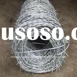 China Galvanized and Pvc Coated Barbed Wire Fence