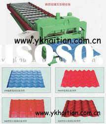 Colore steel sheet roof glazed roll forming machine