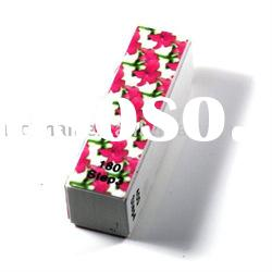Colored Buffer Block With Flower Printed Nail Buffer