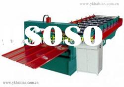 Colored Steel Roof Plate Roll Forming Machine