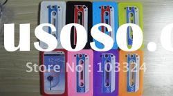 Colorful Cassette Tape Silicone Case Cover for Samsung Galaxy S3 I9300 Back Cover Case