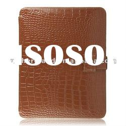Cool design real genuine leather case for ipad