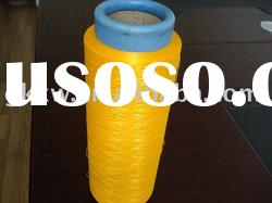 DTY polyester yarn, 300D/96F, SD, dope dyed yellow