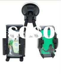 Dual Car holder for cellphone, universal CAR MOUNT HOLDER FOR CELL PHONE GPS iPhone 4 4S G 4TH