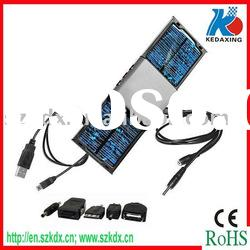 Dual solar charger with mobile phone accessories