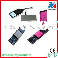 Dual solar energy charger for mobile phone
