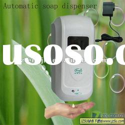 Electric soap dispenser compatible AC or DC adaptor