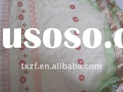 Embroidered Cheap Organza Fabric Curtain
