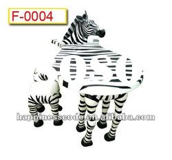 Fantastic children park equipment, fiber glass animal table and chair, zebra table and chair 2