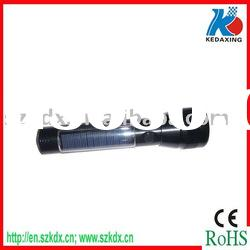 Fashionable solar LED torch with rechargeable battery
