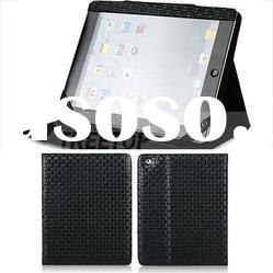 Folio style PU leather case for ipad 2 sleeve
