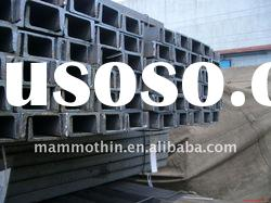 GB and JIS standard hot rolled mild steel channels