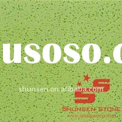 Green Engineered Stone Quartz Slabs