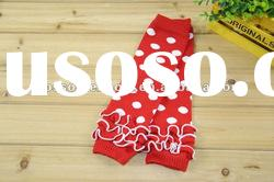 HOT sales red with white dot kids leg warmer for baby