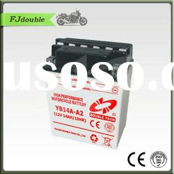 Heavy Duty Rechargeable Motorcycle Battery YB14A-A2(12v 14ah)With Best Quality
