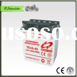 Heavy Duty Rechargeable Motorcycle Battery YB14L-A1(12v 14ah)Best Quality