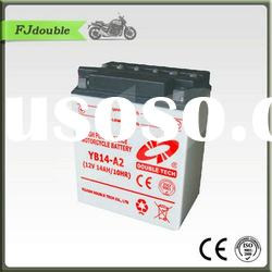 Heavy Duty Rechargeable Motorcycle Battery YB14-A2(12v 14ah)With Best Quality