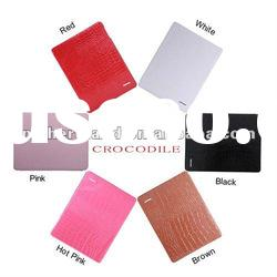 High quality for ipad 2 Real Genuine Leather Cover Case with Stand function