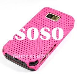 Hot Pink Mesh Skin Hard Back Case Cover For Samsung i9000 Galaxy S
