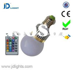 Hot sell E14 e27 3W RGB LED Bulb with ir remote control