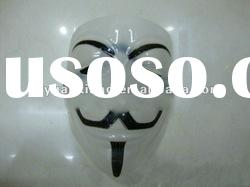 Hot selling masquerade halloween plastic v for vendetta masks for sale(YX-HM001)