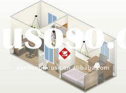 Living Integration Container House With Office In Flexible Design