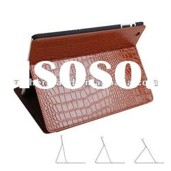 Luxury Crocodile Skin for ipad 2 Real Genuine Leather Case with Stand function
