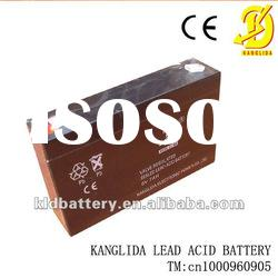 Maintenance free rechargeable sealed lead-acid battery 6v7ah