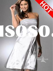 Multi Color Spaghetti Straps Shiny Satin Plus Size Holiday Dress 2012 Prom Dress